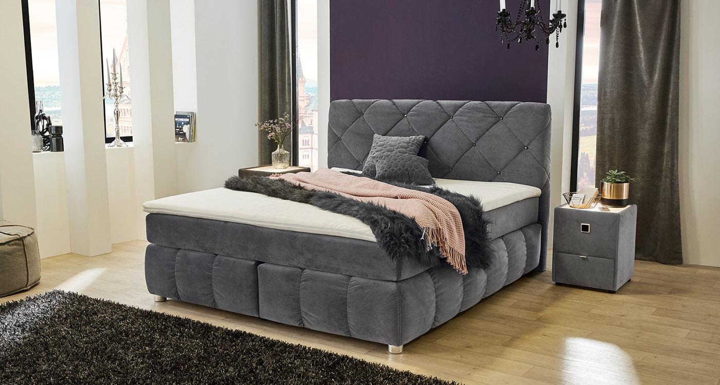 boxspringbetten m belpiraten. Black Bedroom Furniture Sets. Home Design Ideas